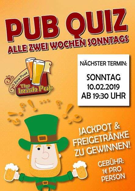Pubquiz in Schildgen am 10.02.2019
