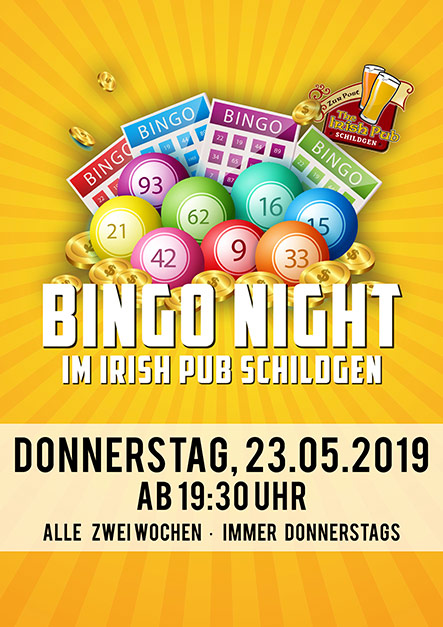 Bingo Night im Irish Pub Schildgen