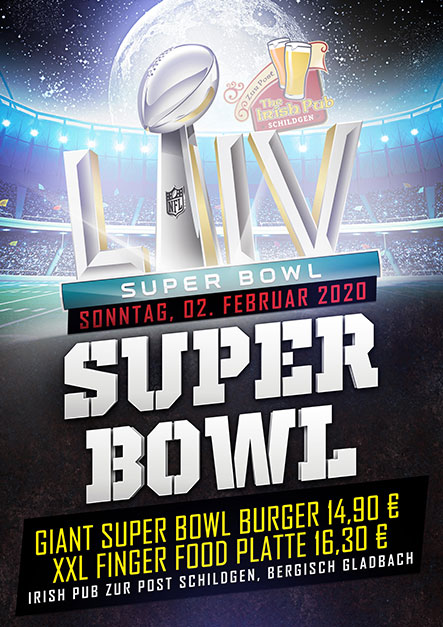 Super Bowl 2020 Live im Irish Pub Schildgen