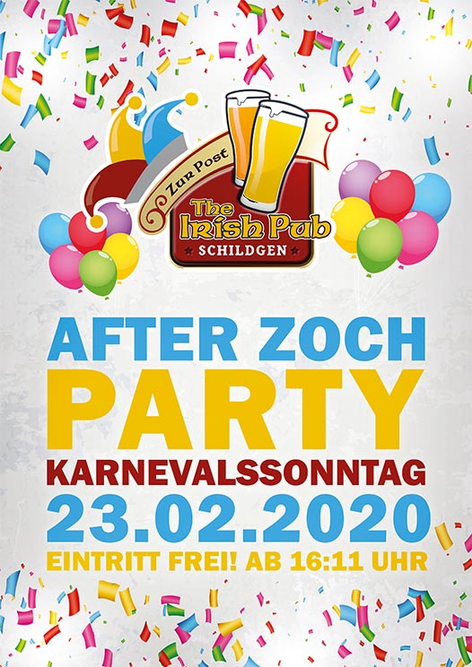 After Zoch Party 2020 in Bergisch Gladbach-Schildgen